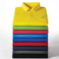 stack of polo shirts
